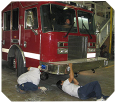 Working on Fire Truck